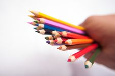Free Coloured Pencils Royalty Free Stock Image - 34594486