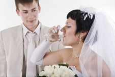 Free The Groom And The Bride Stock Images - 34594994