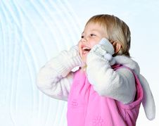 Free Little Girl Wearing A Scarf, Christmas, Winter, Frost Royalty Free Stock Photos - 34595328