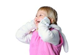 Little Girl Wearing A Scarf, Christmas, Winter, Frost Stock Image
