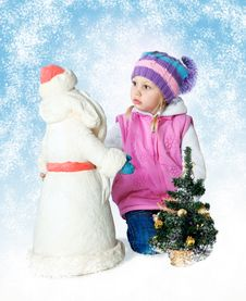 Free Little Girl Wearing A Scarf, Christmas, Winter, Frost Royalty Free Stock Photography - 34595547