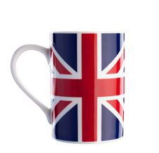 Free British Flag Cup Isolated With Path On White Stock Photography - 34595722