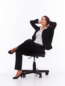Free Businesswoman Sit On Chair Royalty Free Stock Photo - 34595725
