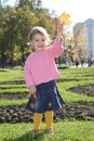 Free Girl With Yellow Leaf Royalty Free Stock Images - 3467179