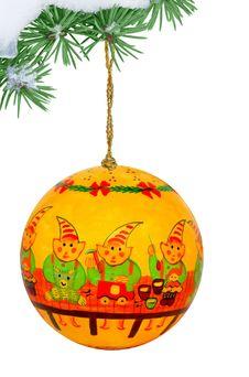 Free Decorated Christmas Ball Stock Photo - 3460770