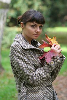 Free Autumn Woman 26 Royalty Free Stock Image - 3460816