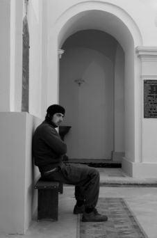 Free Man In Church Stock Photos - 3460963