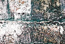Free Grunge Painted Brick Wall Royalty Free Stock Photography - 3461777