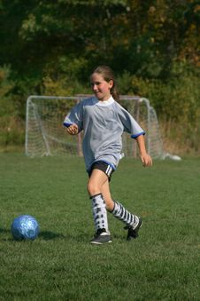 Free Girls Soccer Fun Stock Images - 3462424
