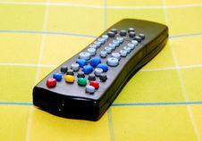 Black Remote Control Stock Photo