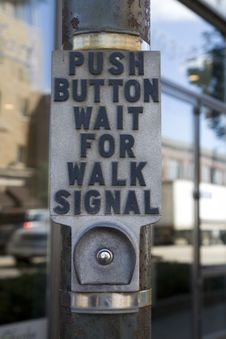 Free Crosswalk Button Stock Photo - 3462990