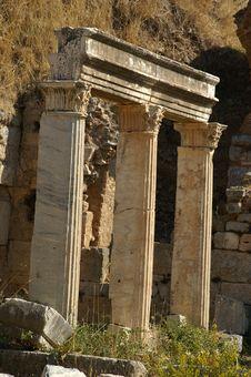 Ancient Ruins In Ephesus Stock Photos
