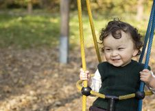 Free On A Swing. Stock Photo - 3463670