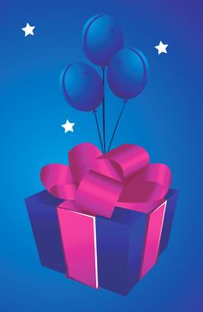 Free Gift With Baloons Stock Photos - 3463683