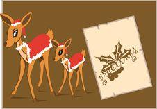 Free Deers And Christmas Stock Photos - 3463693