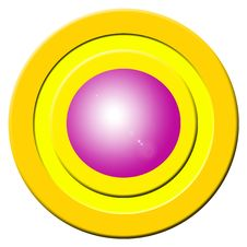 Pink Buzzer Button Stock Image