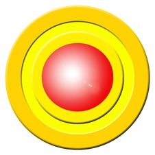Red Buzzer Button Stock Photography