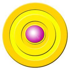 Pink Buzzer Button Stock Photo
