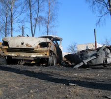 Free After Fire - Big Car Stock Photography - 3465102