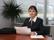 Free Business Woman In An Office Royalty Free Stock Images - 3465369