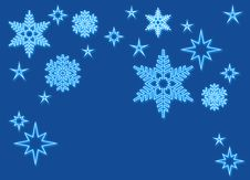 Free Snowflakes With Neon Light Stock Image - 3466341