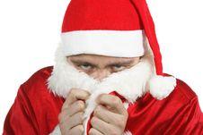 Free Freezing Santa Claus Royalty Free Stock Photo - 3466545