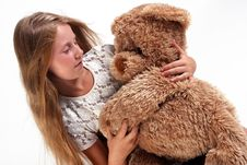 Free Girl With Teddy Stock Photography - 3466712