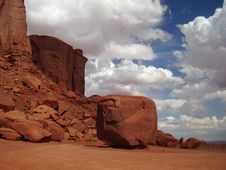Free The Boulder In Monument Valley Stock Images - 3467344