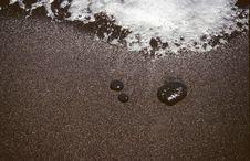 Free Black Sandy Shore Stock Image - 3467571