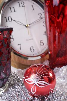 Christmas Decoration Setup Stock Image