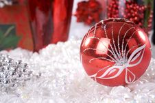 Christmas Decoration Setup Stock Images