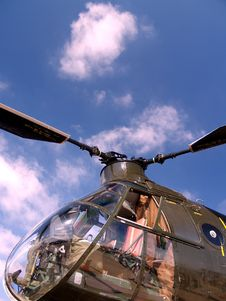 OLD Helicopter Nose At Airshow Royalty Free Stock Photos