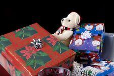 Christmas Decoration Setup Royalty Free Stock Image