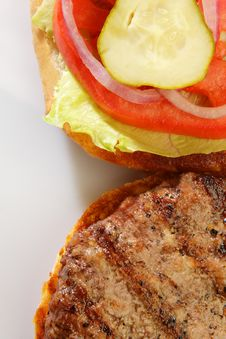 Free Grilled Burger Stock Image - 3469341