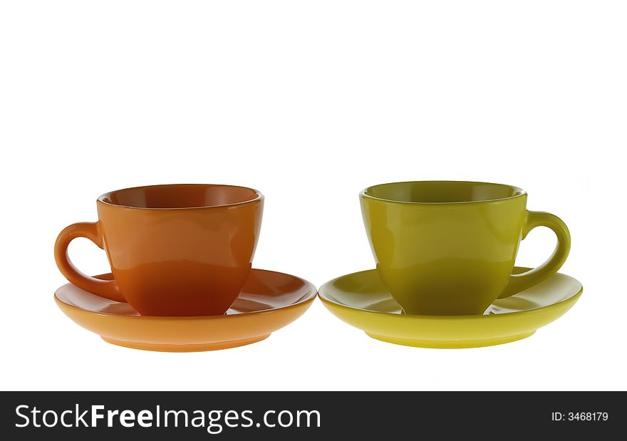Two color cups