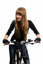 Free Young Girl With Bike. Royalty Free Stock Photo - 34600655