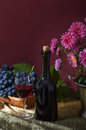 Free Still Life With Fruit And A Bottle Of Wine Stock Photos - 34609553