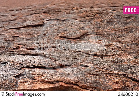 Free Red Rock Fragment, Red Rock Detail Close Up With Selective Focus, Red Rock Pattern Close Up With Focus To Nearest Part Of Photo Stock Photo - 34600210