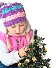 Free Portrait Of A Little Girl Dressed In Winter Clothes Stock Images - 34600194