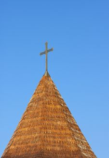 Cross On The Sky - RAW Format Stock Photos