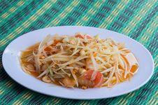 Free Papaya Salad Stock Photo - 34602770