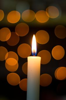 Free Christmas Candle Stock Images - 34605184
