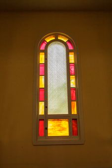 Free Painted Church Window Royalty Free Stock Images - 34605809