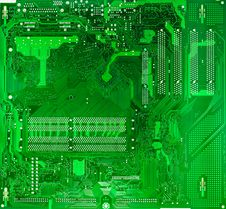 Free Green Circuit Board Of Computer Stock Photography - 34606532