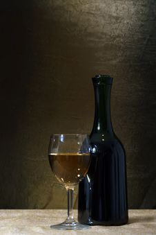 Free Bottle And Glass Of Wine Royalty Free Stock Photo - 34609555