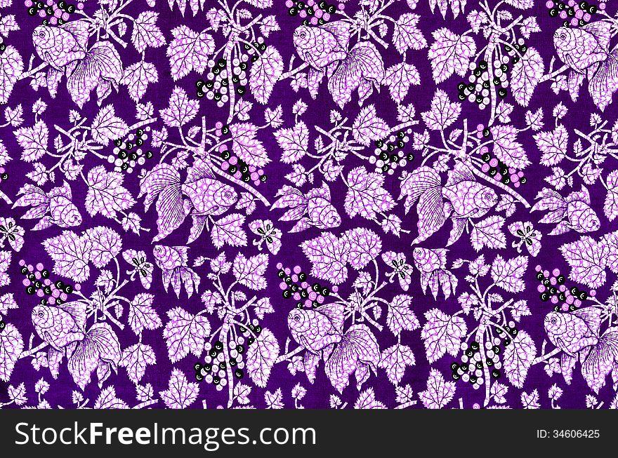 Batik cloth fabric