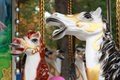 Free White Horses Childrens Carousel Stock Photos - 34610333