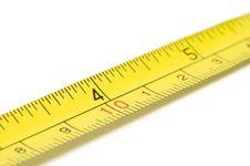 Free Metal Measure Tape Royalty Free Stock Photos - 34612288