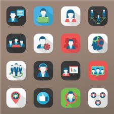 Network Icons Stock Photo