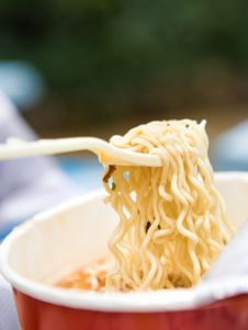 Instant Noodle,fast Food Stock Photos